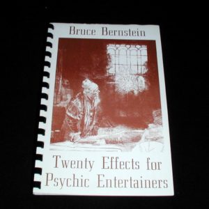 Twenty Effects for Psychic Entertainers by Bruce Bernstein