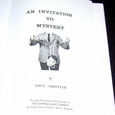 An Invitation to Mystery by Tony Griffith