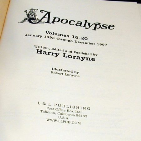 Apocalypse: Vols: 16-20 by Harry Lorayne