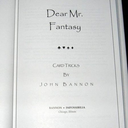 Dear Mr Fantasy by John Bannon