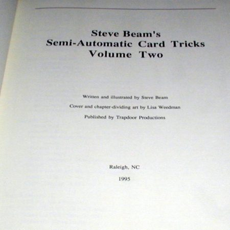 Semi-Automatic Card Tricks: Vol. 2 by Steve Beam