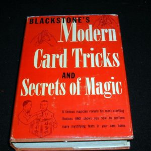 Modern Card Tricks and Secrets of Magic by Harry Blackstone