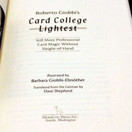 Card College Lightest by Roberto Giobbi