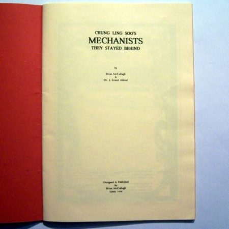 Chung Ling Soo's Mechanists by Brian McCullagh, Dr. J. Ernest aldred