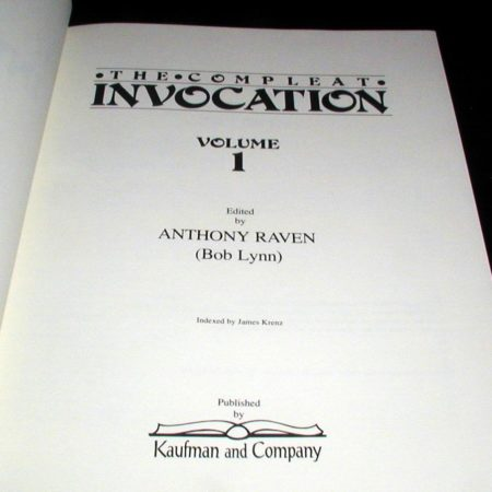 Compleat Invocation, The, Vols: 1 and 2 by Tony Andruzzi