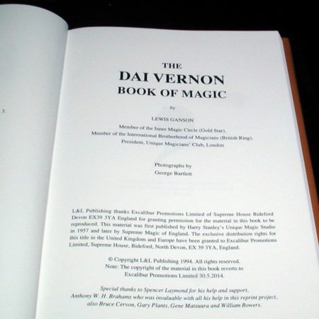 Dai Vernon Book of Magic by Lewis Ganson