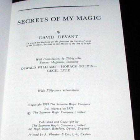 Secrets of My Magic by David Devant