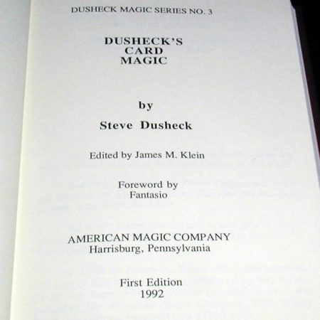 Dusheck's Card Magic by Steve Dusheck