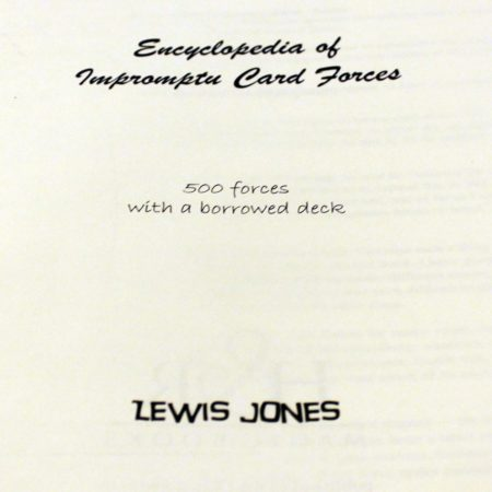 Encyclopedia of Impromptu Card Forces (Revised) by Lewis Jones