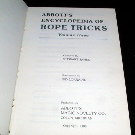Abbott's Encyclopedia of Rope Tricks Vol. 3 by Stewart James