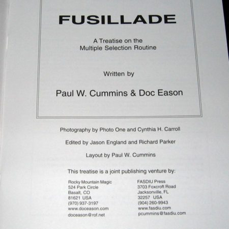 Fusillade by Paul Cummins, Doc Eason
