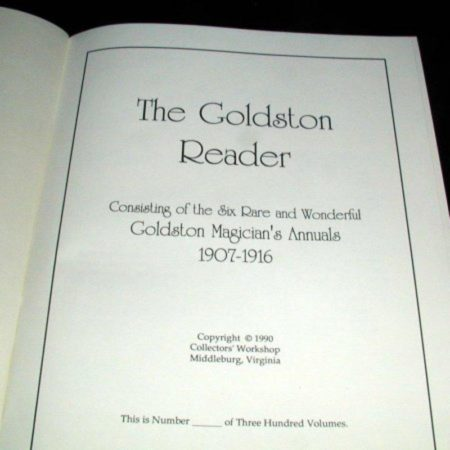 Goldston Reader by Will Goldston