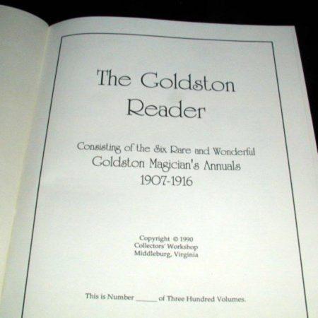 Goldston Reader by Will Goldston