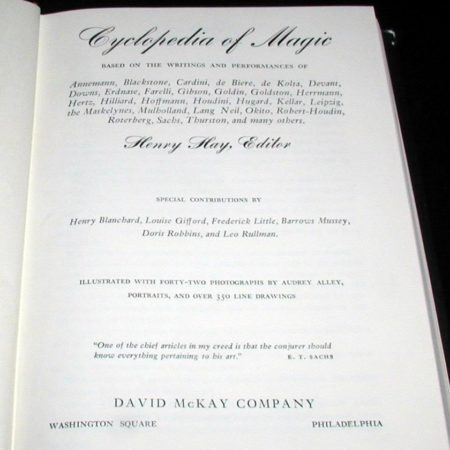 Cyclopedia of Magic by Henry Hay