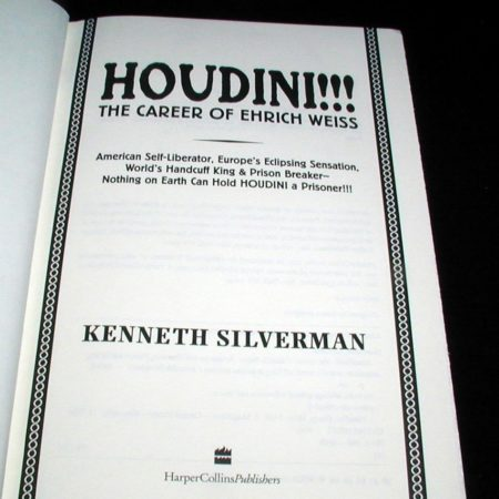 Houdini!!! by Kenneth Silverman