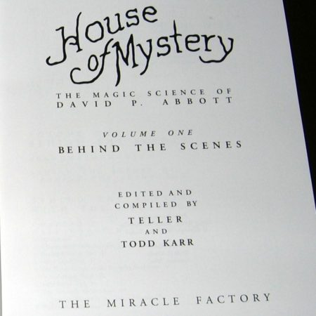 House of Mystery: Vol. 1 by David P. Abbott