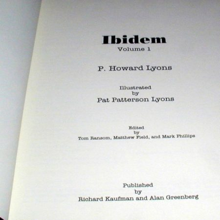 Ibidem - Vol. 1 by P. Howard Lyons