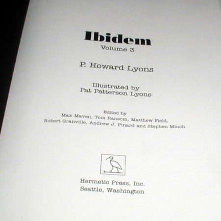 Ibidem - Vol. 3 by P. Howard Lyons