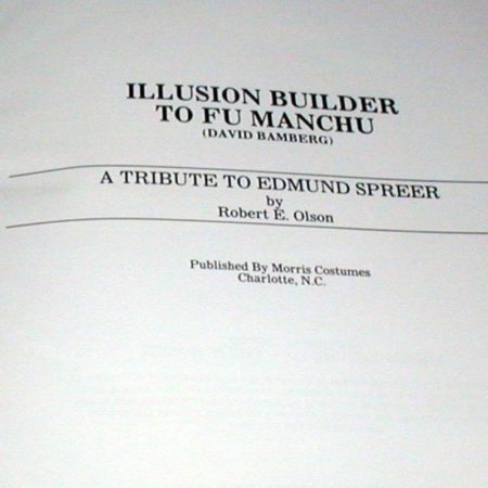 Illusion Builder to Fu-Manchu by Robert E. Olson