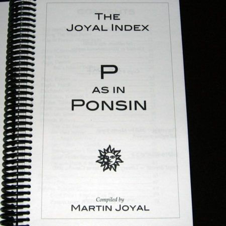 The Joyal Index: P as in Ponsin by Martin Joyal