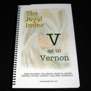 The Joyal Index: V as in Vernon by Martin Joyal