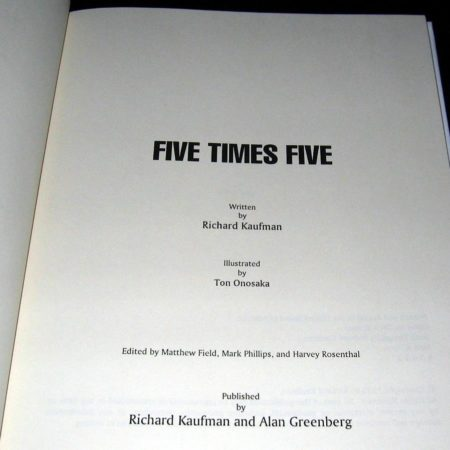 Five Times Five by Richard Kaufman