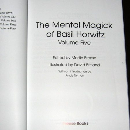 Mental Magick of Basil Horwitz, Vol 5. by Basil Horwitz