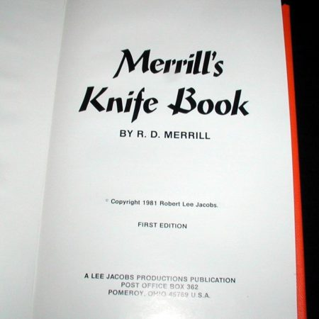 Merrill's Knife Book by R.D. Merrill
