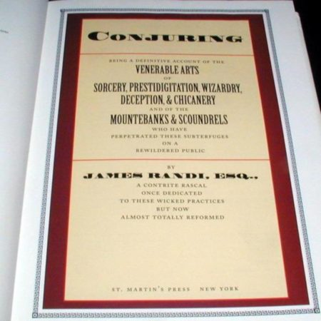 Conjuring by James Randi