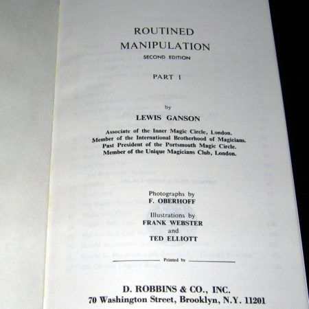 Routined Manipulation - Vols: 1, 2 by Lewis Ganson