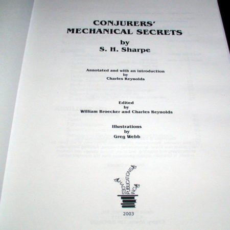 Conjurers' Mechanical Secrets by S.H. Sharpe