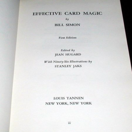 Effective Card Magic by Bill Simon