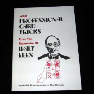 Four Professional Card Tricks by Walt Lees